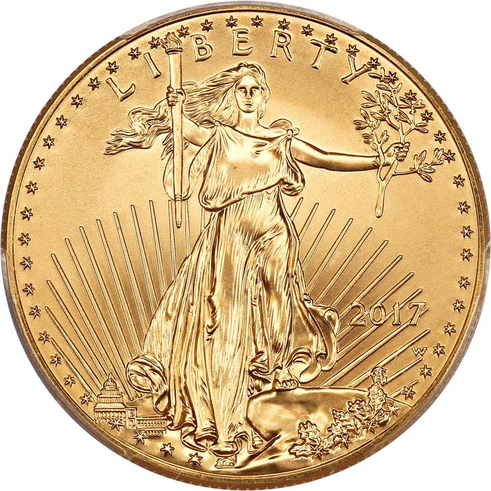 sample image for 2017-W Gold Eagle $50  SP Burnished