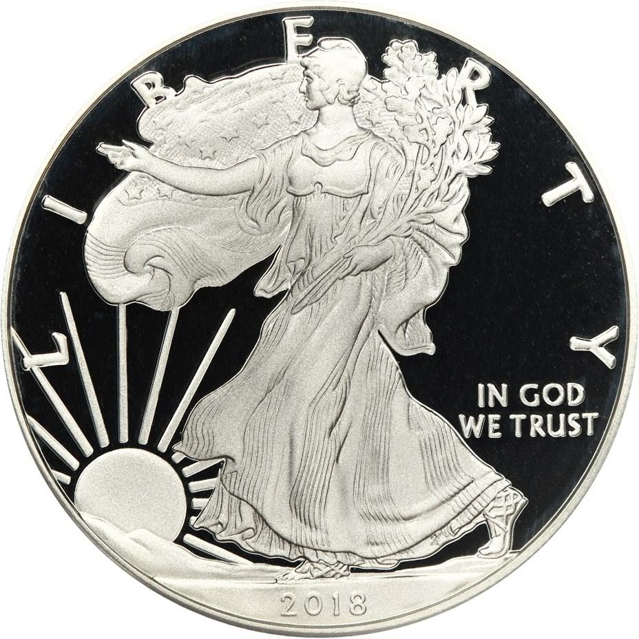 sample image for 2018-W Silver Eagle $1  PR DCAM