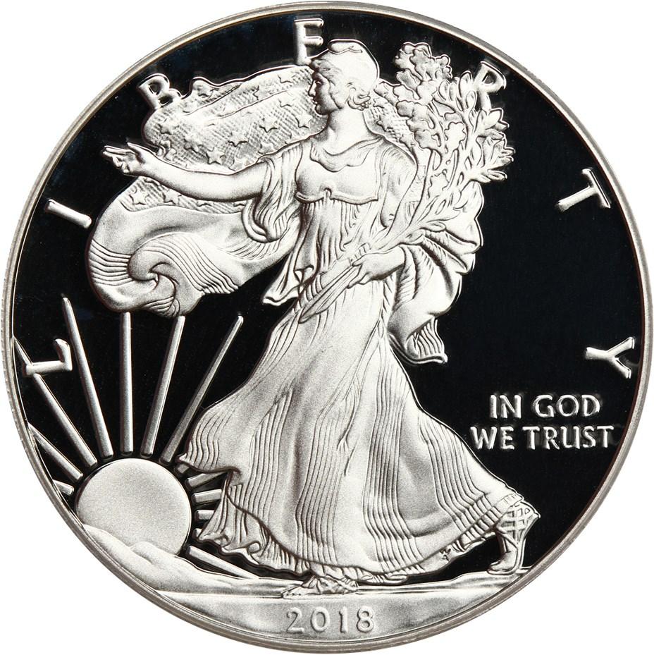 sample image for 2018-S Silver Eagle $1  PR DCAM Ltd Edition Set