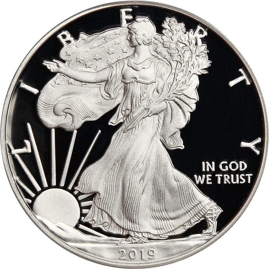 sample image for 2019-W Silver Eagle $1  PR DCAM