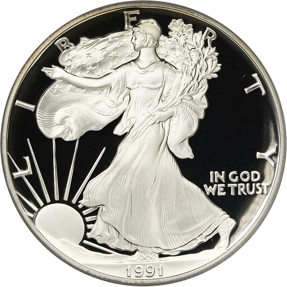 sample image for 1991-S Silver Eagle $1  PR DCAM