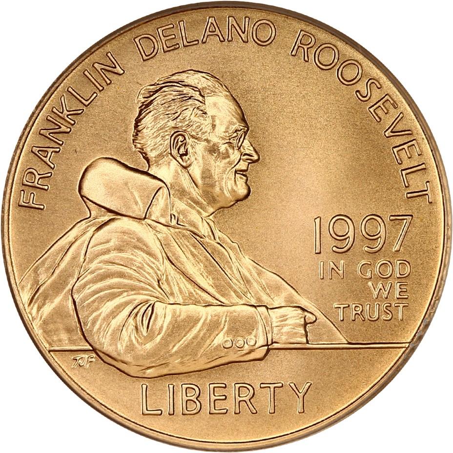 sample image for 1997-W Franklin D. Roosevelt $5  MS