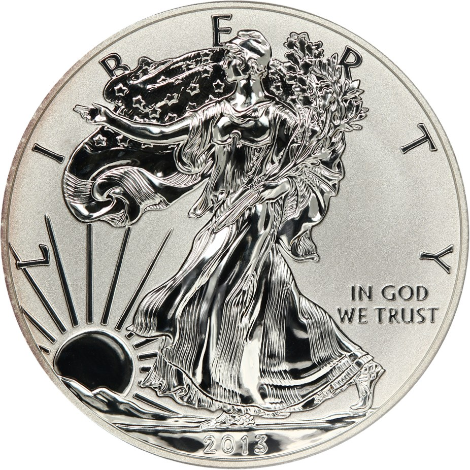 sample image for 2013-W Silver Eagle $1  PR Reverse Proof