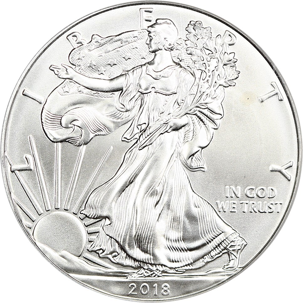 sample image for 2018 Silver Eagle $1  MS