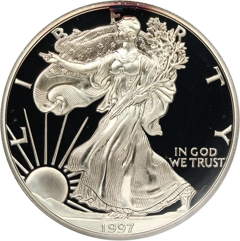 sample image for 1997-P Silver Eagle $1  PR DCAM