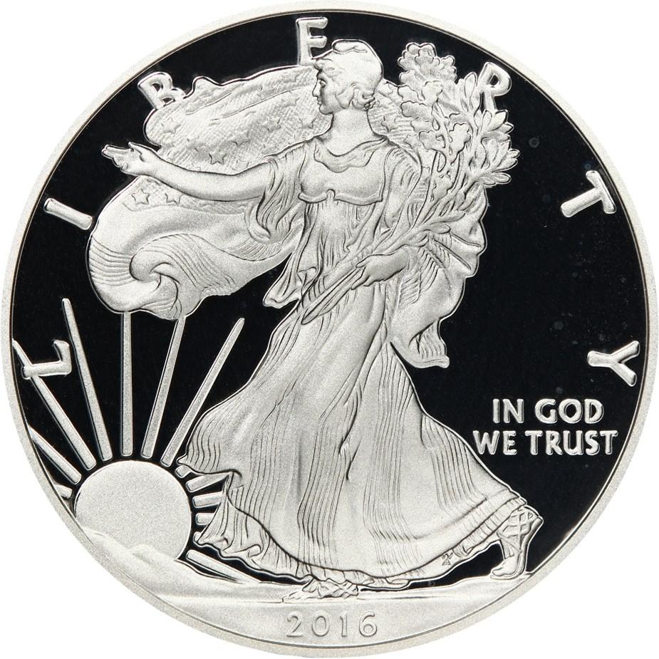 sample image for 2016-W Silver Eagle $1  PR DCAM
