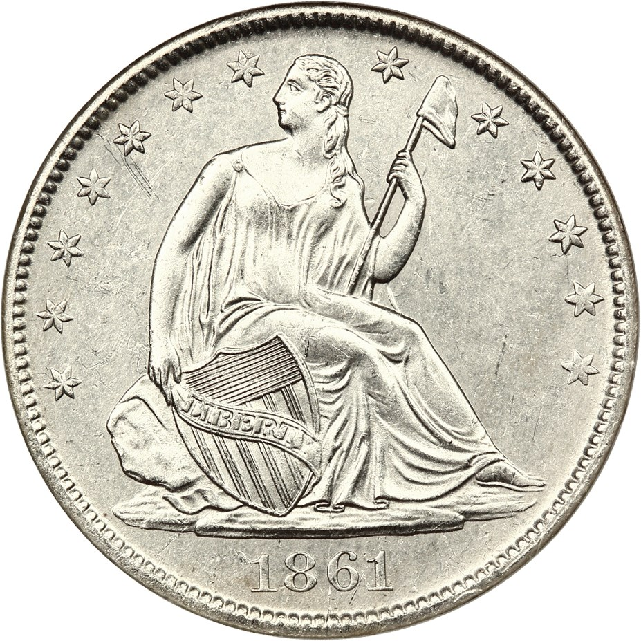 sample image for 1861-O 50c MS CSA Obverse