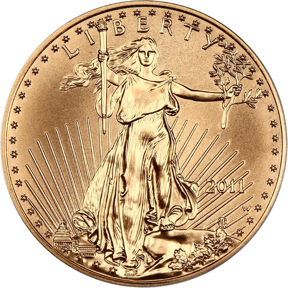 sample image for 2011-W Gold Eagle $50  SP Burnished