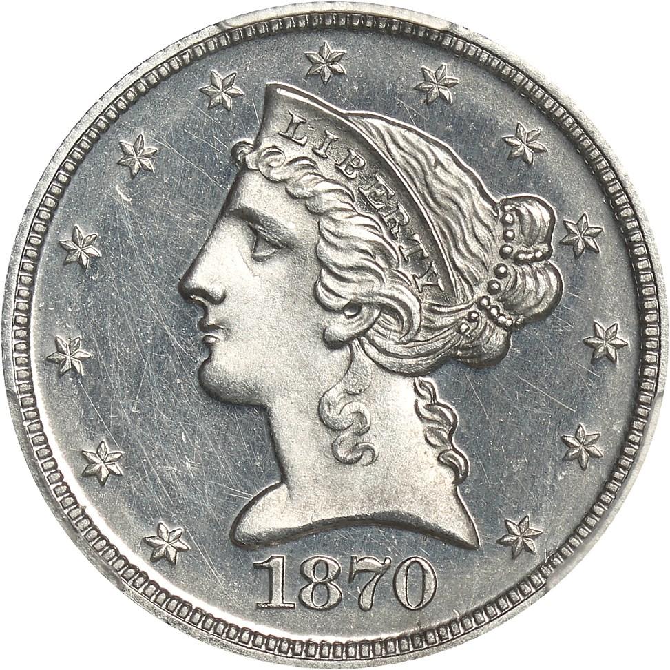 sample image for 1870 P$5 (J-1033) PR