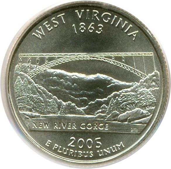 sample image for 2005-D West Virginia 25c SP Satin Finish