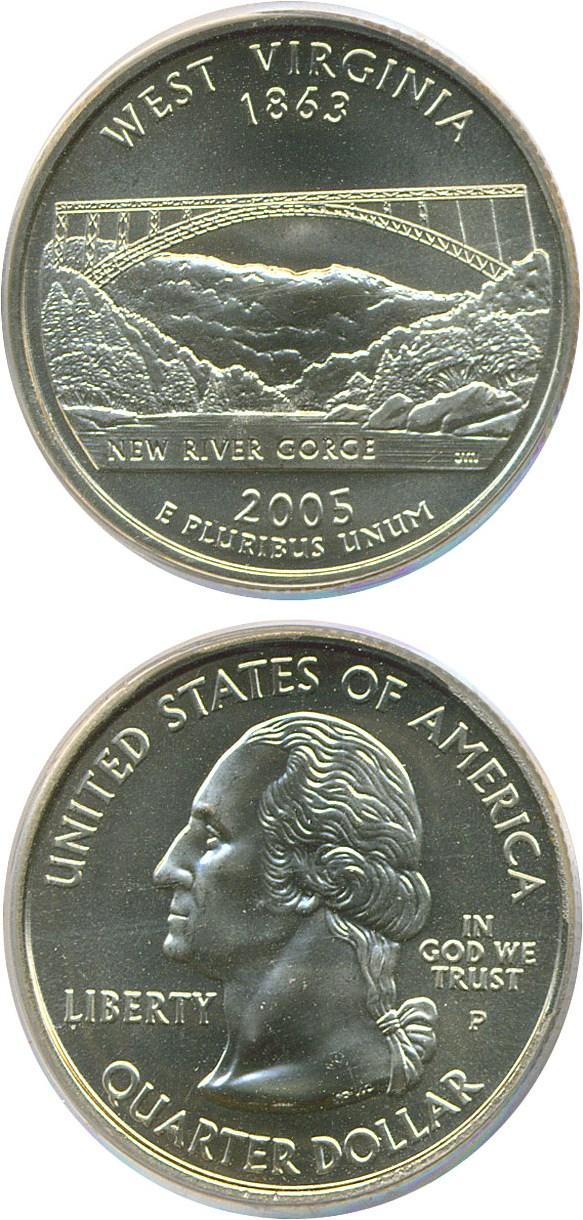 sample image for 2005-P West Virginia 25c SP Satin Finish