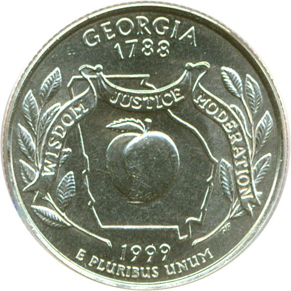 sample image for 1999-D Georgia 25c MS