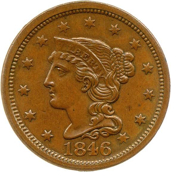 sample image for 1846 1c MS BN Medium Date