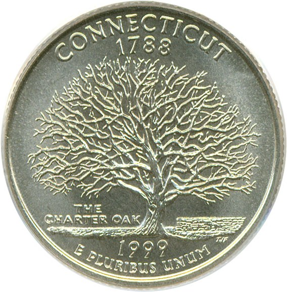 sample image for 1999-D Connecticut 25c MS