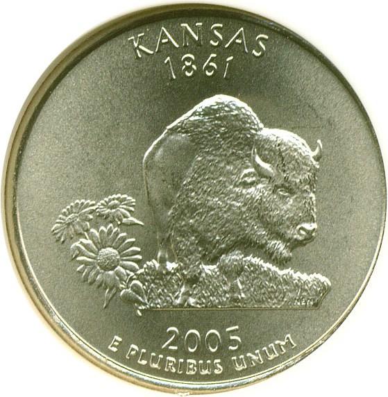 sample image for 2005-D Kansas 25c SP Satin Finish