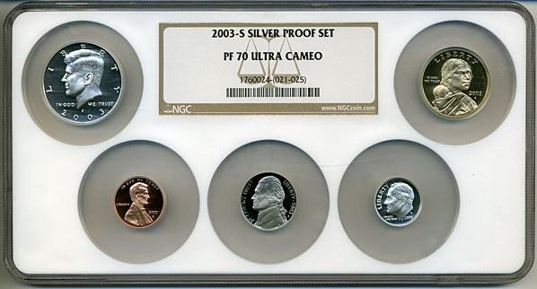 sample image for 2003-S Silver Proof Set 1c-$1 PR DCAM 10 Coins