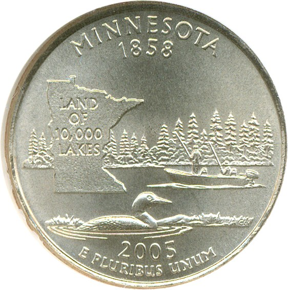 sample image for 2005-D Minnesota 25c SP Satin Finish