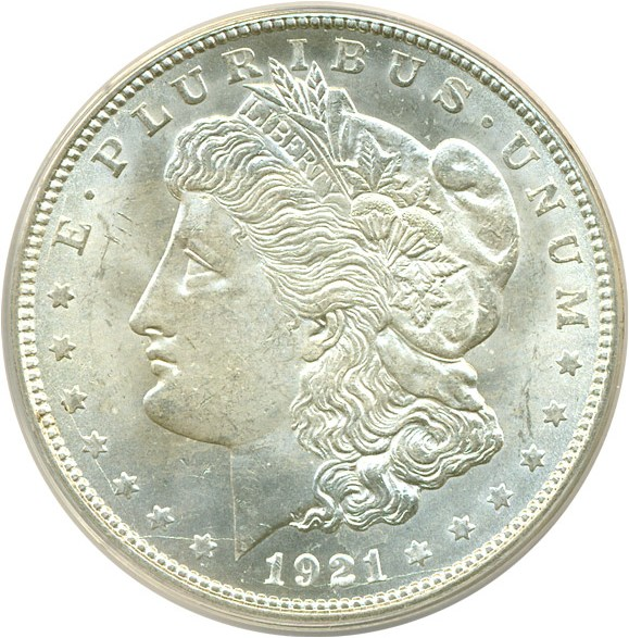 sample image for 1921-D $1  MS VAM-1X, Doubled Cud