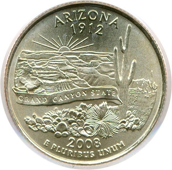 sample image for 2008-P Arizona 25c SP Satin Finish