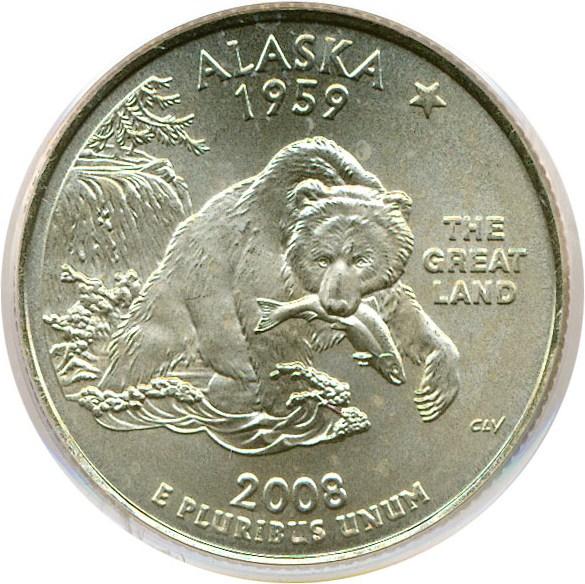 sample image for 2008-P Alaska 25c SP Satin Finish