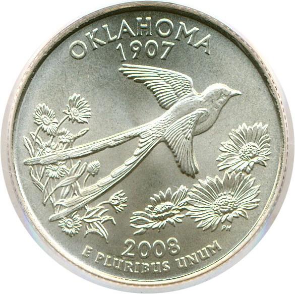 sample image for 2008-P Oklahoma 25c SP Satin Finish