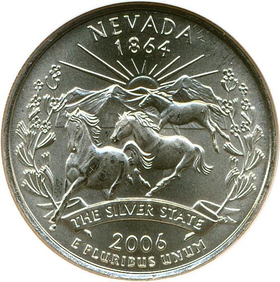 sample image for 2006-D Nevada 25c SP Satin Finish