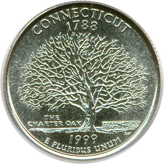 sample image for 1999-P Connecticut 25c MS