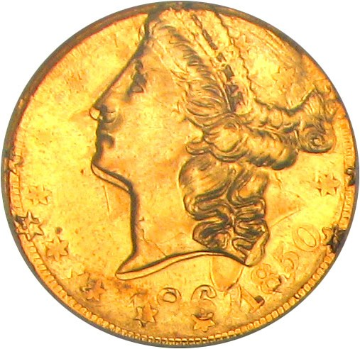 sample image for 1861/1850 $20 Clark Gruber