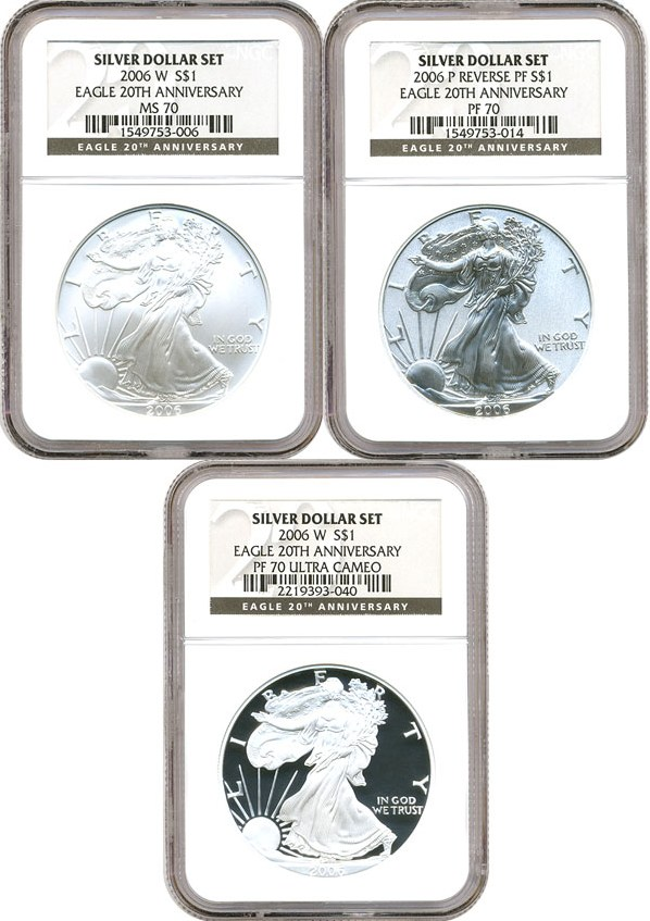 2006-W 20th Anniversary 2pc GOLD Silver Eagle Set complete OGP no coins