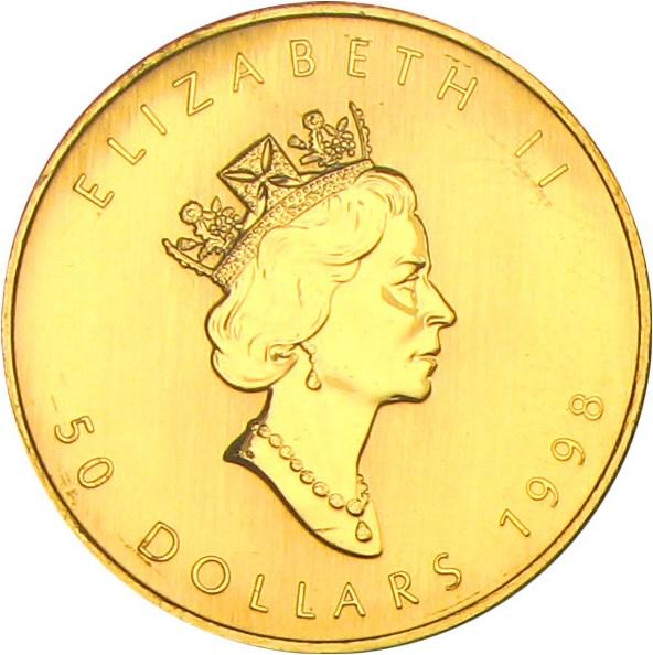 sample image for 1998 Maple Leaf $5  MS