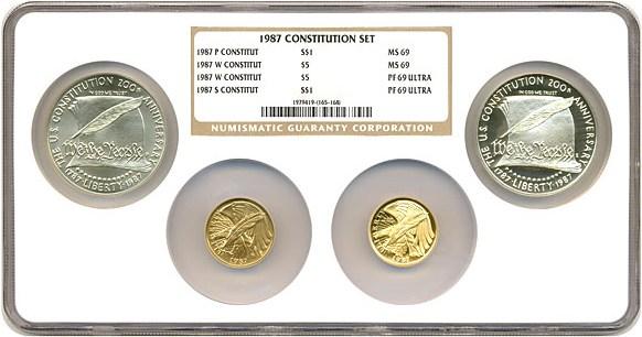 sample image for 1987 Constitution 4pc MS/PR