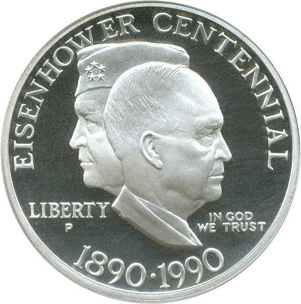 sample image for 1990-P Eisenhower $1  PR DCAM