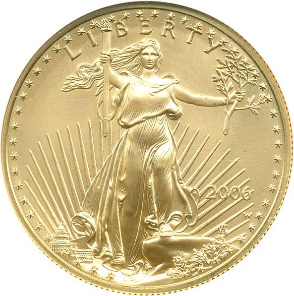 sample image for 2006-Present Gold Eagle $50  SP Burnished [Type]