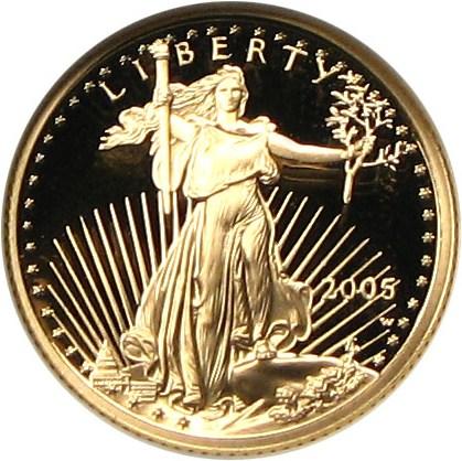 sample image for 2005-W Gold Eagle $5  PR DCAM