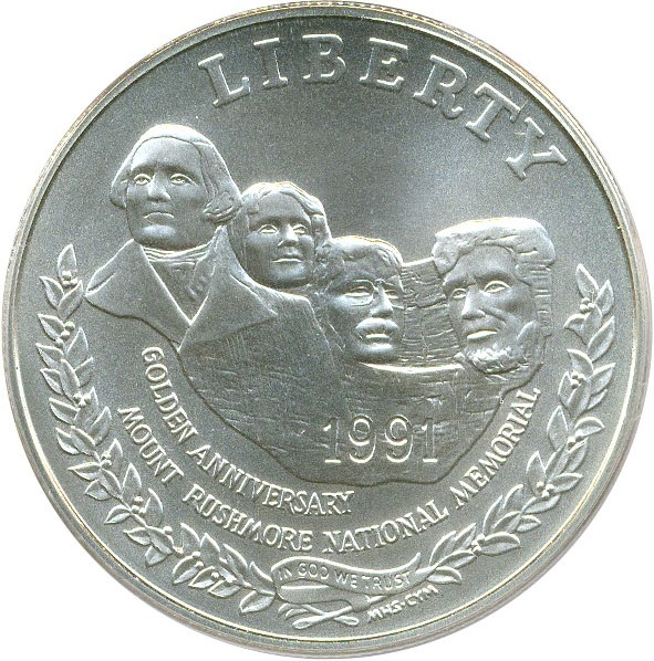sample image for 1991-P Mt. Rushmore $1  MS