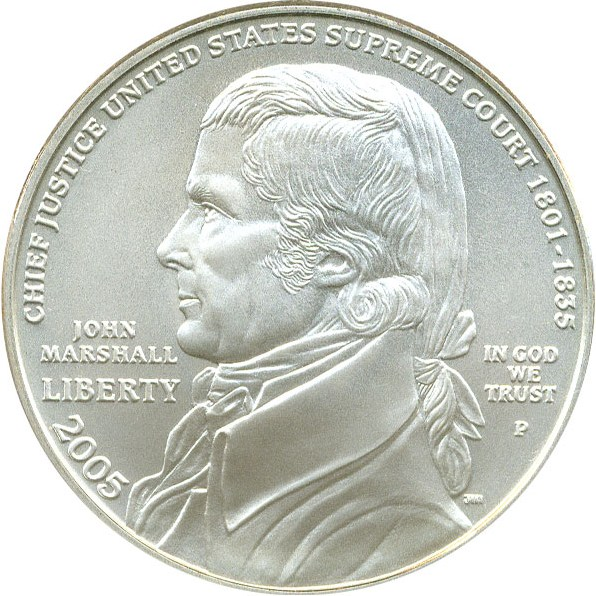 sample image for 2005-P Marshall $1  MS