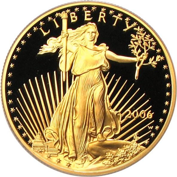 sample image for 2006-W Gold Eagle $50  PR DCAM