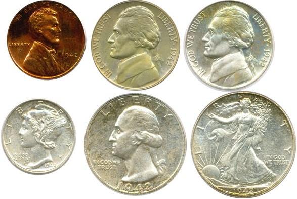 sample image for 1942 Proof Set 1c-50c PR 6 Coins