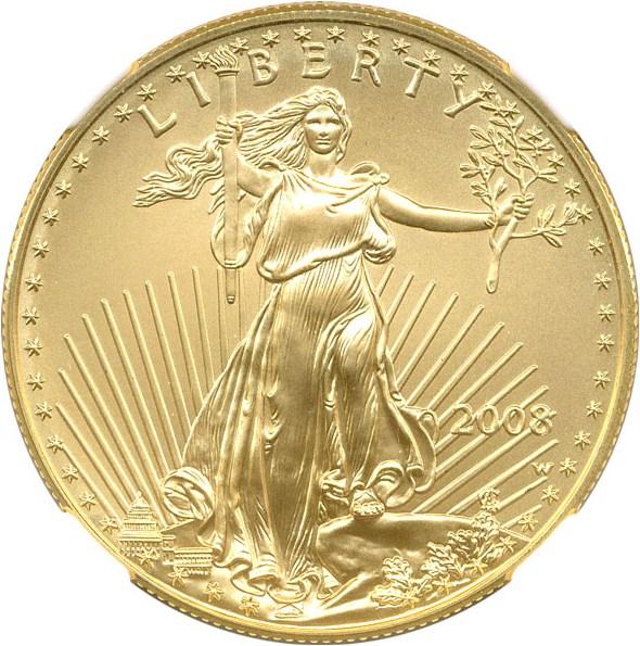 sample image for 2008-W Gold Eagle $50  SP Burnished