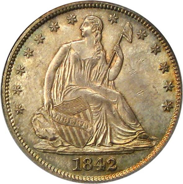 sample image for 1842 50c MS Medium Date