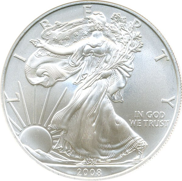 sample image for 2008 Silver Eagle $1  MS