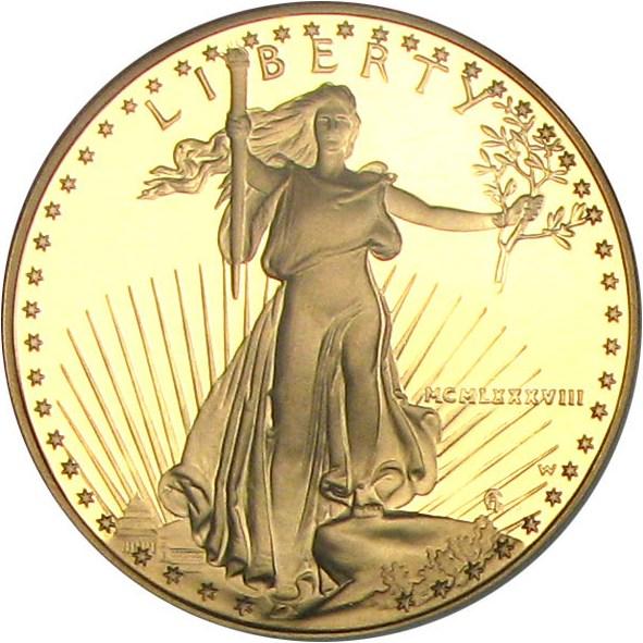 sample image for 1988-W Gold Eagle $50  PR DCAM