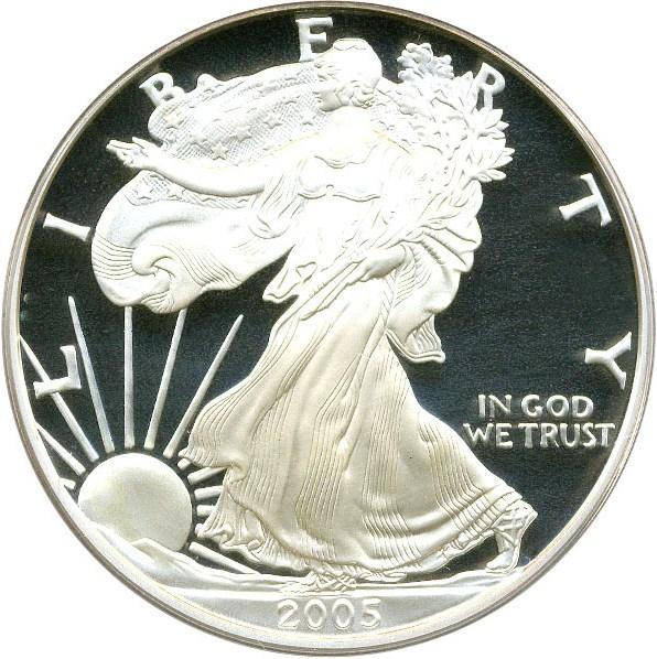 sample image for 2005-W Silver Eagle $1  PR DCAM