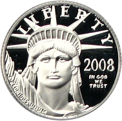 sample image for 2008-W Platinum Eagle $10  PR DCAM