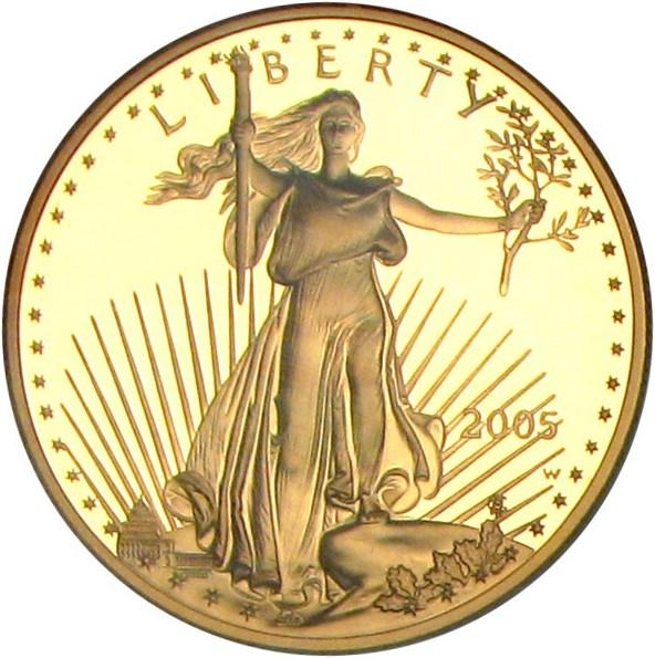 sample image for 2005-W Gold Eagle $50  PR DCAM