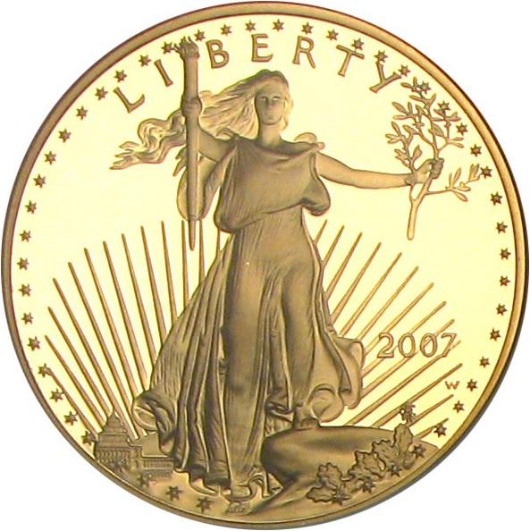 sample image for 2007-W Gold Eagle $50  PR DCAM