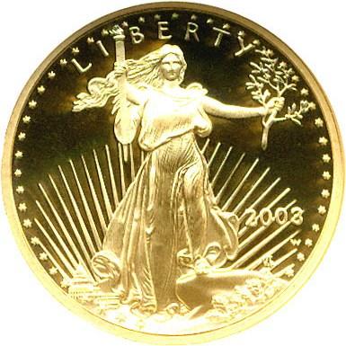 sample image for 2003-W Gold Eagle $5  PR DCAM
