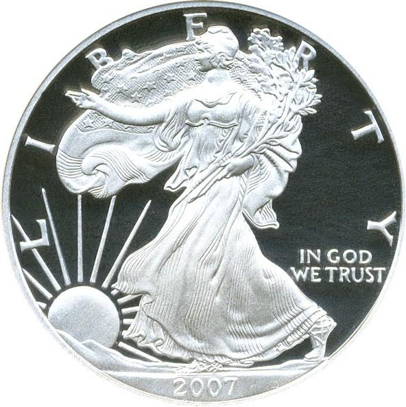 sample image for 2007-W Silver Eagle $1  PR DCAM