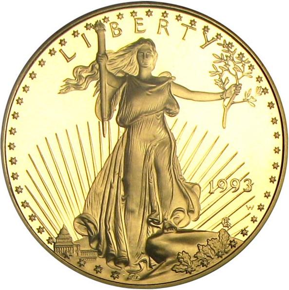 sample image for 1993-W Gold Eagle $50  PR DCAM