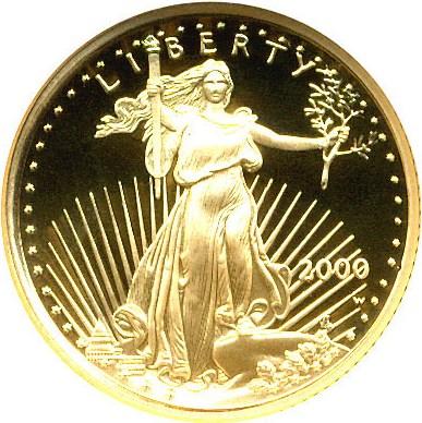 sample image for 2000-W Gold Eagle $5  PR DCAM